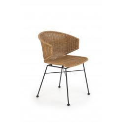K407 krzesło naturalny / czarny ( 1p2szt ) - Halmar