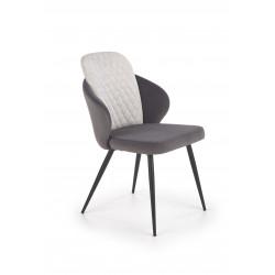 K408 krzesło jasny popiel / ciemny popiel - Halmar