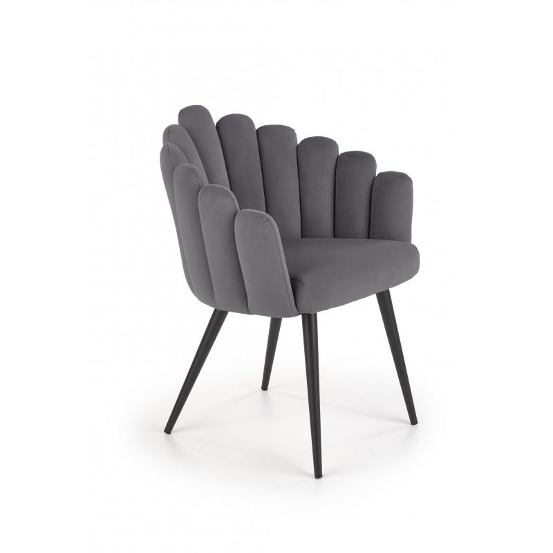 K410 krzesło popielaty velvet - Halmar