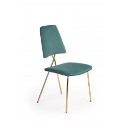 K411 krzesło tapicerka - ciemny zielony, nogi - złoty - Halmar