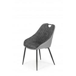 K412 krzesło ciemny popielaty / jasny popielaty - Halmar
