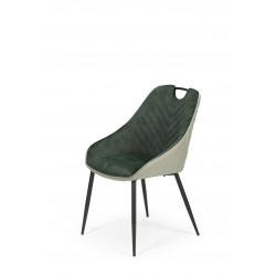 K412 krzesło ciemny zielony / jasny zielony - Halmar