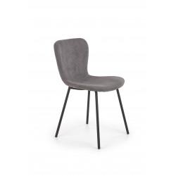 K414 krzesło popielaty sztruks - Halmar