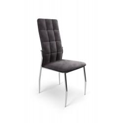 K416 krzesło popielaty velvet - Halmar