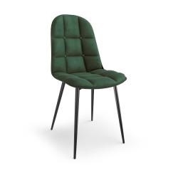 K417 krzesło ciemny zielony velvet - Halmar
