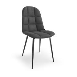 K417 krzesło popielaty velvet - Halmar