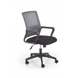 MAURO fotel pracowniczny czarny / popiel - Halmar
