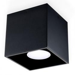 Plafon QUAD 1 Czarny - Sollux