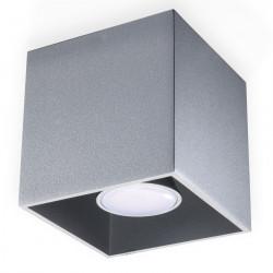 Plafon QUAD 1 Szary - Sollux