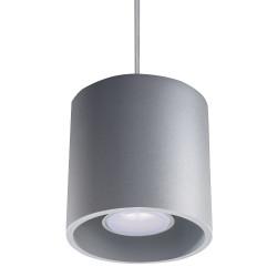 Lampa Wisząca ORBIS 1 Szary - Sollux