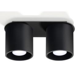 Plafon ORBIS 2 Czarny - Sollux