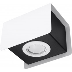 Plafon STEREO 1 Biały - Sollux