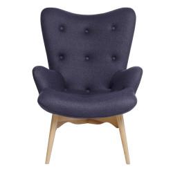 Fotel CONTOUR szary - tkanina, nogi jesion