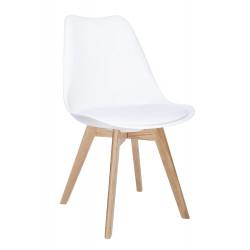 Krzesło NORDIC PREMIUM białe - podstawa dębowa