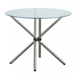 Stół CONEX blat szklany - szkło, metal