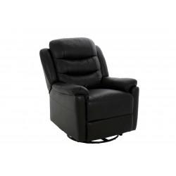 Fotel Renzo czarna skóra