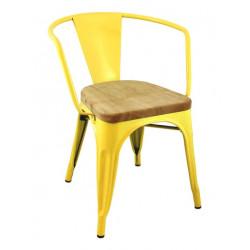 Krzesło TOWER ARM WOOD żółte - jesion, metal