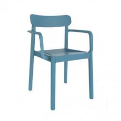 Krzesło Elba z podłokietnikami niebieski e