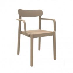 Krzesło Elba z podłokietnikami piaskowe