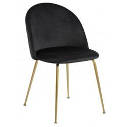 Krzesło Louise Black /Gold