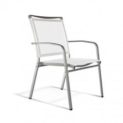 Krzesło Lucca 02 białe/ chrom
