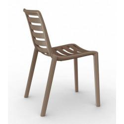 Krzesło Slatkat brązowe