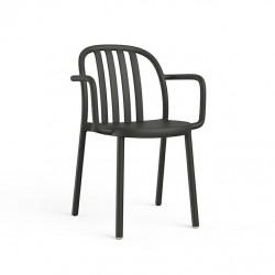 Krzesło Sue Lama z podłokietnikami czarn e