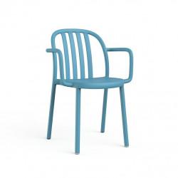 Krzesło Sue Lama z podłokietnikami niebi eskie