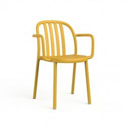 Krzesło Sue Lama z podłokietnikami żółte