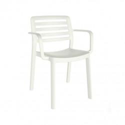 Krzesło Wind z podłokietnikami białe