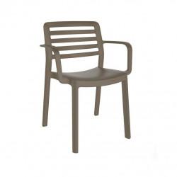 Krzesło Wind z podłokietnikami brązowe