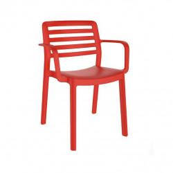 Krzesło Wind z podłokietnikami czerwone
