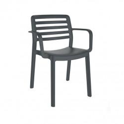 Krzesło Wind z podłokietnikami szare cie mne