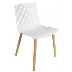 Krzesło Wire wood białe