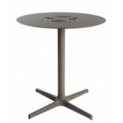 Stół Toledo Aire okrągły 70 brązowy