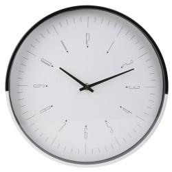 Zegar Quai Czarny / Biały