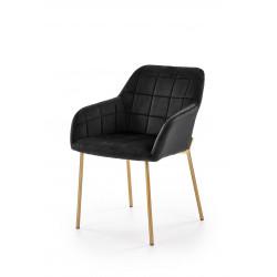 K306 krzesło złoty / czarny - Halmar