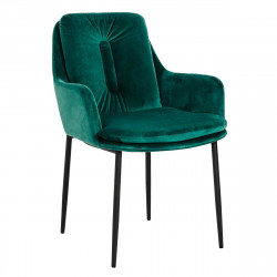 Krzesło GRANT zielone II GATUNEK - welur, podstawa czarno-złota