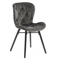 Krzesło Batilda VIC dark grey/ pikowana - ACTONA