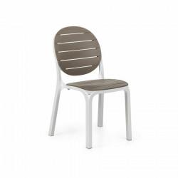Krzesło Erica białe/ brązowe - Nardi S.R.L.
