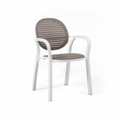 Krzesło Gardenia białe/ brązowe - Nardi S.R.L.
