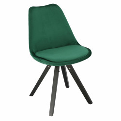 Krzesło Norden Star Square black Velvet zielone - Intesi