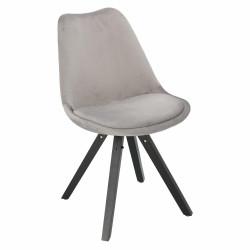 Krzesło Norden Star Square black Velvet szare - Intesi