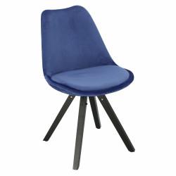 Krzesło Norden Star Square black Velvet niebieskie - Intesi