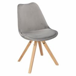 Krzesło Norden Star Square Velvet szare - Intesi