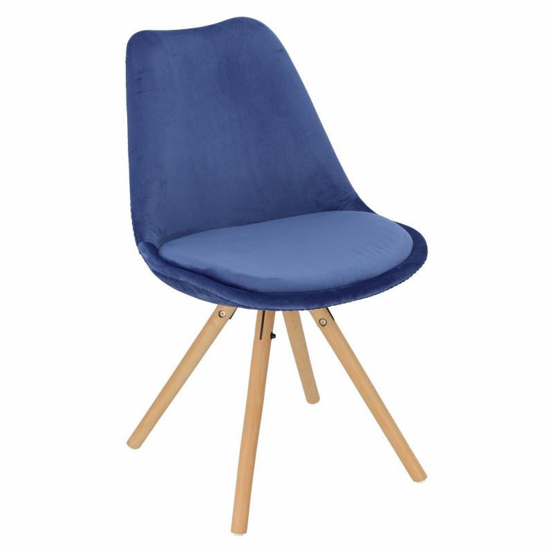 Krzesło Norden Star Velvet niebieskie - Intesi