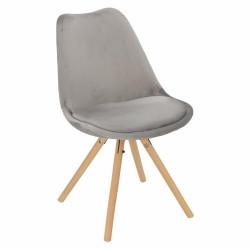 Krzesło Norden Star Velvet szary - Intesi