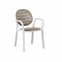 Krzesło Palma białe/ brązowe - Nardi S.R.L.