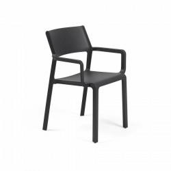 Krzesło Trill z podłokietnikami antracyt owe - Nardi S.R.L.
