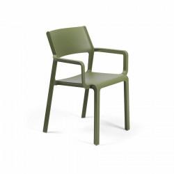 Krzesło Trill z podłokietnikami zielone - Nardi S.R.L.